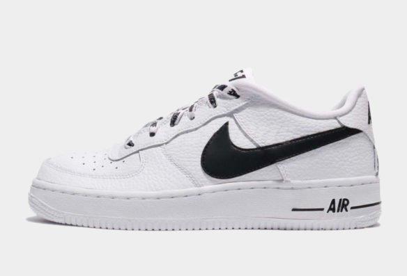 Фото Nike Air Force 1 LV8 NBA бело-черные - 3
